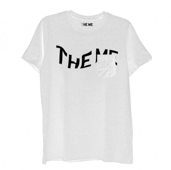THE ME POCKET T white